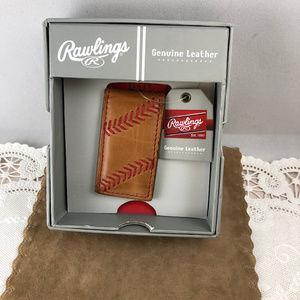 Rawlings Bags - Baseball Stitch MoneyClip made of calfskin Leather
